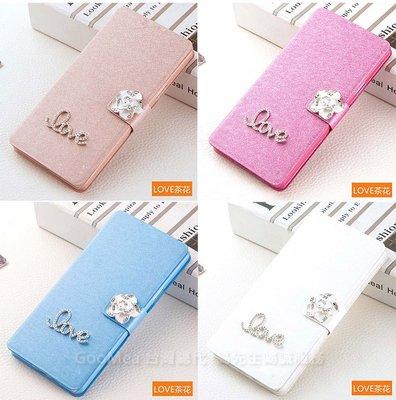 【GooMea】3免運Samsung三星 S10 plus 6.3吋蠶絲紋皮套站立插卡手機套保護殼保護套 Love+花