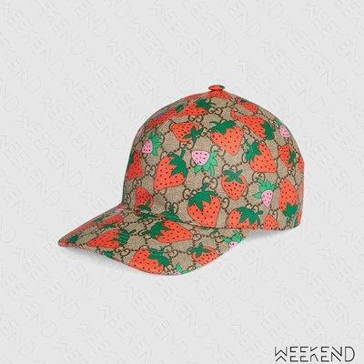 【WEEKEND】 GUCCI Strawberry 草莓 鴨舌帽 棒球帽 帽子 584412