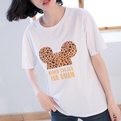 DiuDiu【新款+免運】正韓T恤  美女必穿米奇圖案短袖T恤 名韓妮8628
