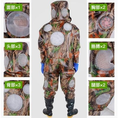 抓馬蜂服防蜂衣捉胡蜂全套帶風扇透氣螞蜂專用加厚防護連身服ATF