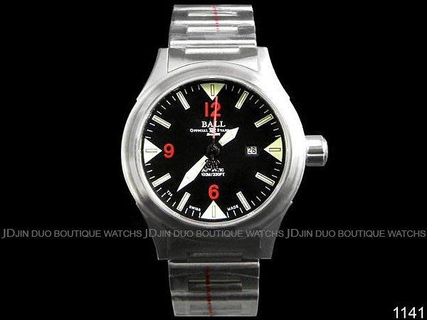 金鐸精品~1141 BALL 波爾 Fireman II系列 紅字黑面盤款 自動上鍊女用腕錶 全新品