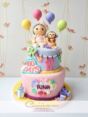 【Connie's Home Sweets】100 days cake birthday cake 生日蛋糕 百日宴蛋糕
