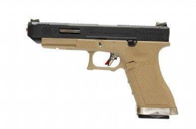 【BCS武器空間】WE WET G34 G008 能量版-瓦斯手槍(黑滑套+銀槍管+沙身)-WEG008W2