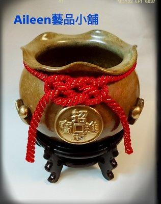【Aileen藝品小舖】陶瓷手拉胚陶器縮口聚寶盆/也適用花器/盆栽等(特價$390)中size