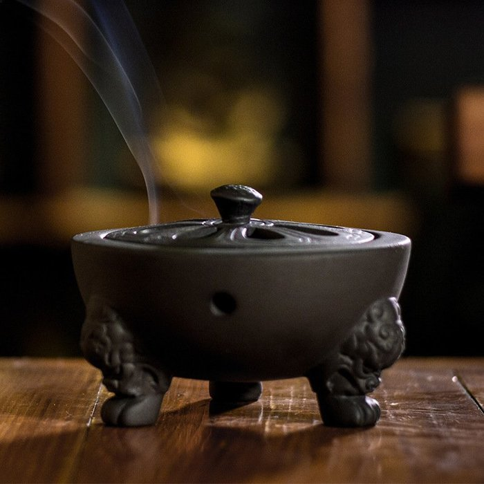 【弘慧堂】 陶瓷香爐 紫砂香爐 五福香熏爐 博山爐宣德爐 仿古香爐佛教佛具用品