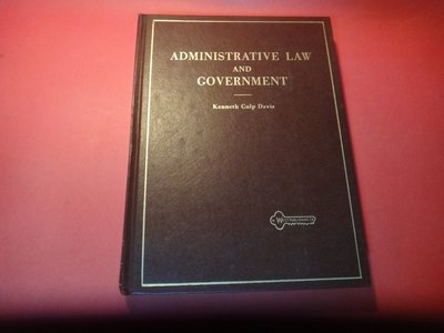 【愛悅二手書坊 21-07】Administrative Law and Government