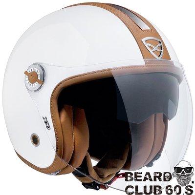 ♛大鬍子俱樂部♛ NEXX® X.70 Groovy 歐洲 原裝 復古 CAFE 騎士 哈雷 偉士牌 Jet 安全帽 白