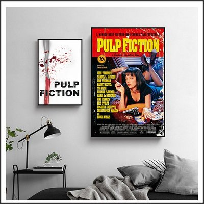 黑色追緝令 Pulp Fiction 火線追緝令 Se7en 電影海報 藝術微噴 掛畫 嵌框畫 @Movie PoP #