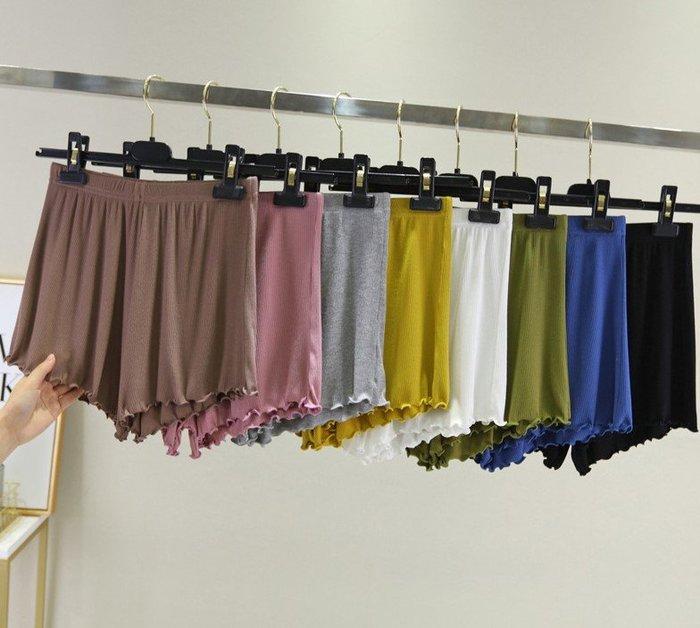 貓姐的團購中心~有中大碼~春夏居家螺紋木耳飛邊褲~8種顏色~L-2XL一件200元~預購款