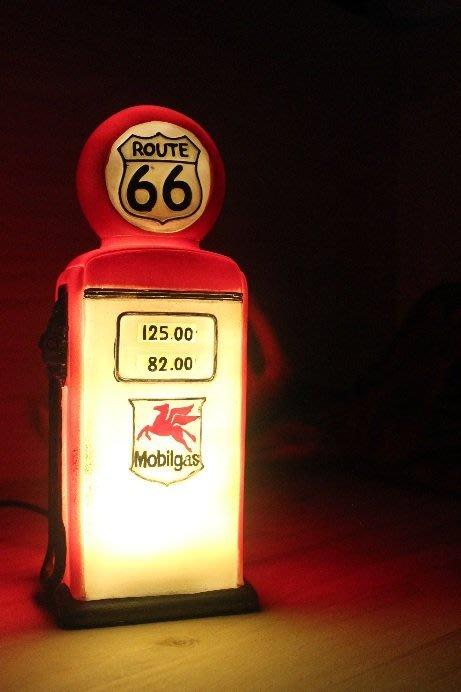 (I LOVE樂多)ROUTE66老加油機造型小燈/油頂燈/小夜燈打造居家/車庫裝飾情境自己來