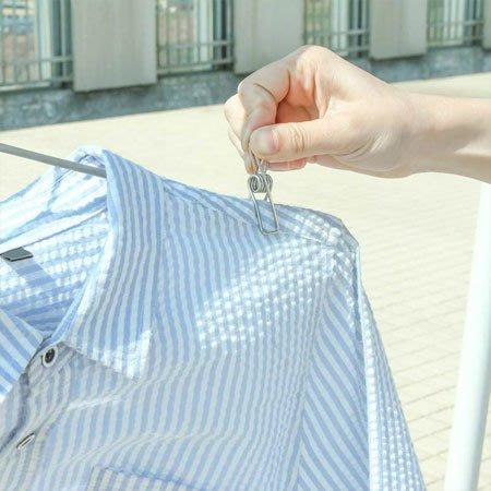 不鏽鋼防風曬衣線夾-小夾子(單入) 曬衣夾 防風夾 夾子 晾衣 曬衣服 居家 不鏽鋼 不銹鋼【SA Girl】