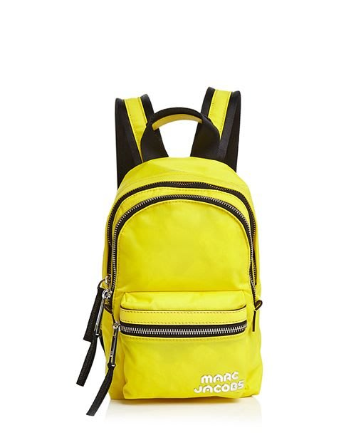 Coco 小舖 MARC JACOBS Trek Pack Mini Nylon Backpack 黃色迷你尼龍後背包