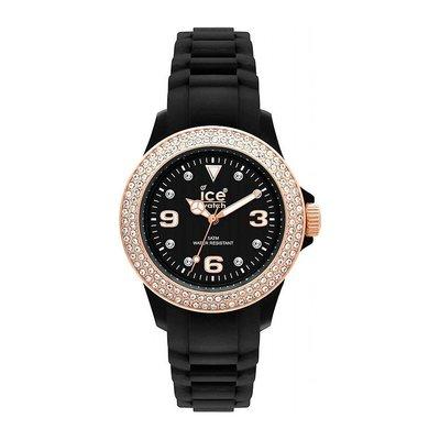 [永達利鐘錶 ] ICE  watch  玫瑰金鑽 膠帶錶 ST.BK.U.S.09 原廠公司保固24個月