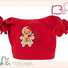 【B& G童裝】正品美國進口Crazy8 薑餅娃娃紅色刷毛嬰兒帽6-12mos