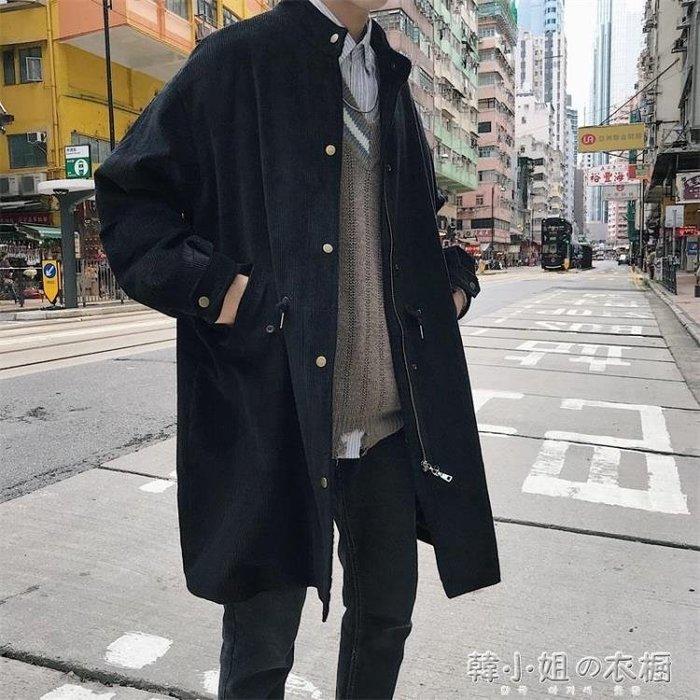 燈芯絨外套男韓版潮流日系復古中長款學生寬鬆大衣ins秋裝潮