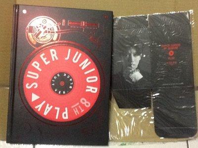 ~拉奇音樂~Super Junior 第八張專輯「PLAY」BLACK SUIT VER.版  二手保存良好片況新
