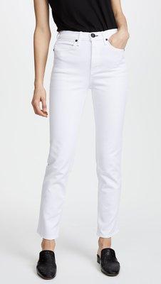 ◎美國代買◎rag & bone cigarette 雪茄直筒褲型復古高腰白色九分牛仔褲