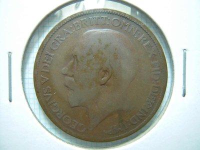 英國.Half Penny.1920年