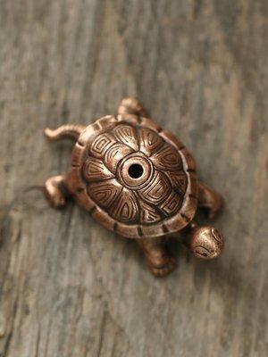 檀香香插線香香座小香爐家用香托迷你盤香架檀香創意擺件動物烏龜