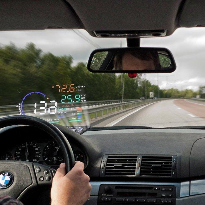 〖起點數碼〗臺灣車載機芯 HUD擡頭顯示器OBD行車電腦車載汽車反射擡頭數字A8顯