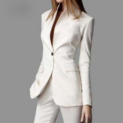 西裝外套#20358  ?Mini Moda? 立領中常款西裝外套