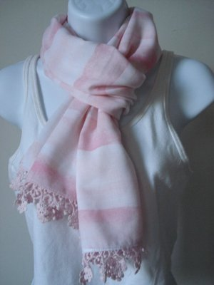 【天普小棧】A&F abercrombie&fitch KIDS striped summer scarf薄款條紋圍巾