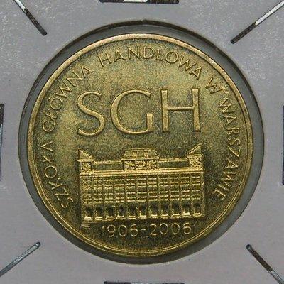 波蘭 (POLAND)  2006年 2 ZLOTE銅幣 UNC【A2512】