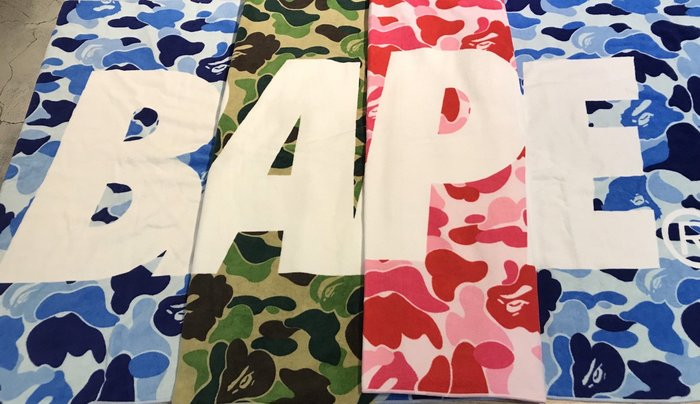 【MASS】A Bathing Ape BAPE ABC BEACH TOWEL 海灘巾 綠/粉紅/藍