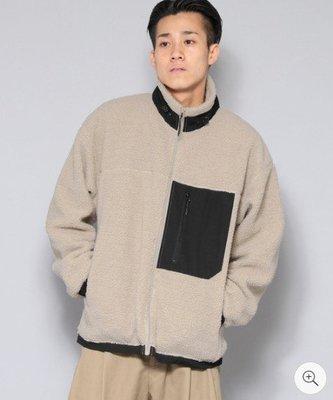 SENSE OF PLACE by URBAN RESEARCH 口袋設計絨毛外套 熊寶寶外套 羊羔毛 情侶裝 日本代購