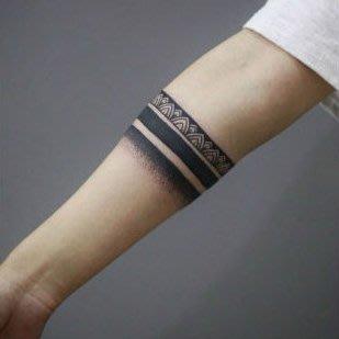 【萌古屋】點點圖騰線條環形圖 - 防水紋身貼紙手臂腳踝環形刺青貼紙A71 K72
