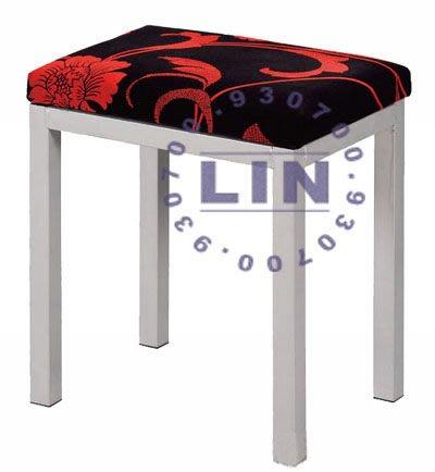 【品特優家具倉儲】A547-03餐椅單人鐵管凳烤銀