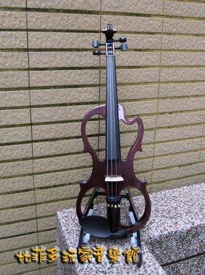 {亨德爾音樂-安畝提琴工作室}-新款 AX-1(WR) 新款電小提琴- 酒紅色電子小提琴 音色美高品質(送全配)