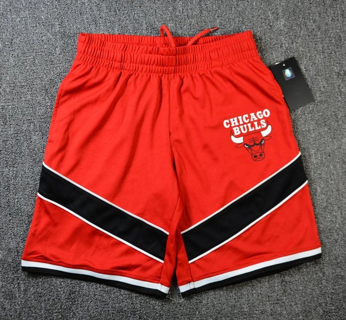 NBA籃球大童短褲 芝加哥公牛隊  JORDAN   口袋版 運動籃球褲 紅色 正版