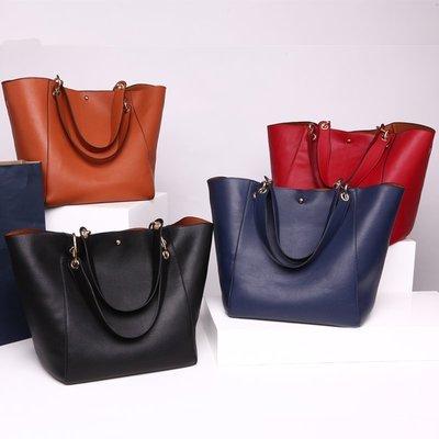 歐美 韓版 皮革 購物袋 子母包 現貨...
