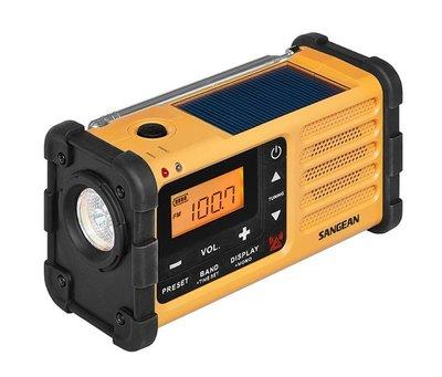 山進 SANGEAN MMR-88 防災收音機 【 FM/AM  LED手電筒 手搖充電 USB充電 】內建鋰電池