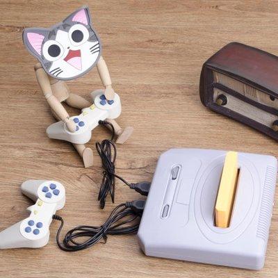 游戲機家用電視雙人手柄插卡游戲機經典懷舊FC黃卡紅白機T