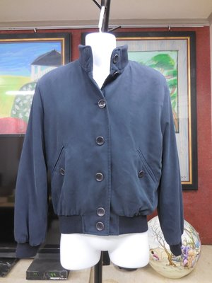 (二手)BALLY Bomber Jacket深藍色前扣式短版夾克 (42號)(M)