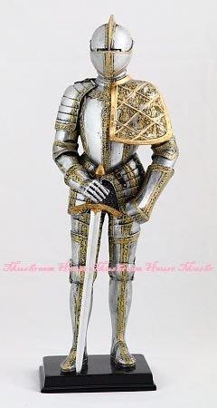 點點蘑菇屋{中古武士擺飾三}鐵甲武士 全身盔甲手握長劍 歐洲中古世紀 羅馬武士 現貨免運