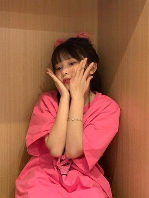 ☆.拾光衣鋪o SHAKING玫粉色T恤夏動漫美少女短袖女2021年潮新款日系寬松閨蜜半袖HN16