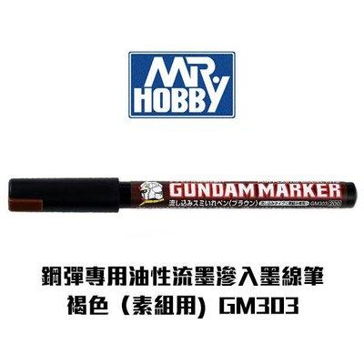【Gunze郡氏】鋼彈專用油性麥克筆 流墨滲入墨線筆(素組用) 褐色 GM303