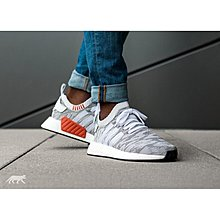 Adidas Originals NMD R2 PK 灰白 虎紋 雪花 BY9410 編織 Boost 慢跑鞋
