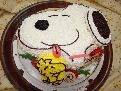 **史努比&小黃鳥**手工卡通生日蛋糕系列~~阿米哥精緻烘焙坊(桃園市)&[數位相片蛋糕製作]
