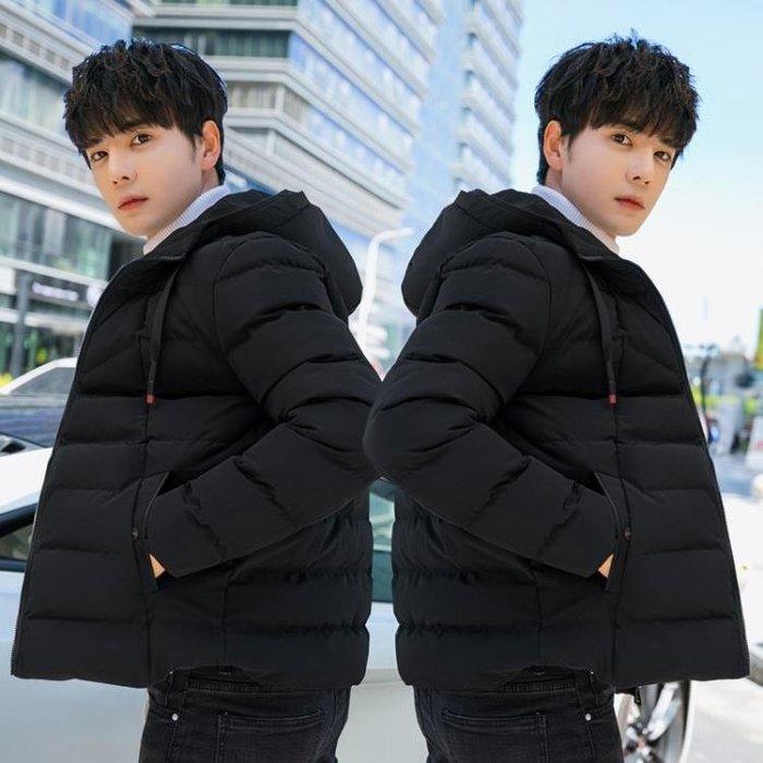 羽絨外套 棉服 棉衣男短款連帽外套冬季加厚韓版潮流棉襖冬天的衣服