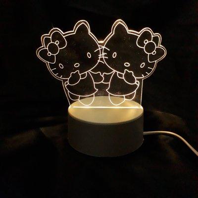 現貨 LED小夜燈 三光源-雙 KITTY