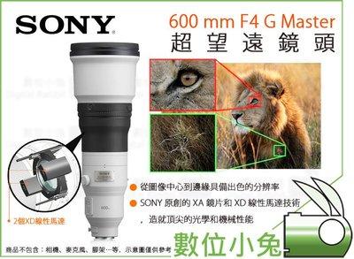 數位小兔【SONY 600 mm F4...
