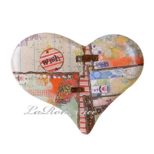 【Heart & Home】Kelly Rae Roberts 心戀家居系列 Wish 鐵皮心形壁飾 / 掛飾