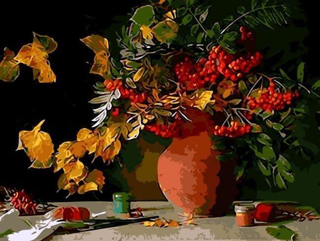 八號倉庫 DIY手繪風景人物花卉數字油畫 40x50【1T112X670】73下標區