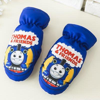 東大門平價鋪  托馬斯兒童保暖防水滑雪手套寶寶加厚加絨卡通手套,1-6歲的寶寶戴,全指 超級暖和~雙層加絨,防水保暖防寒