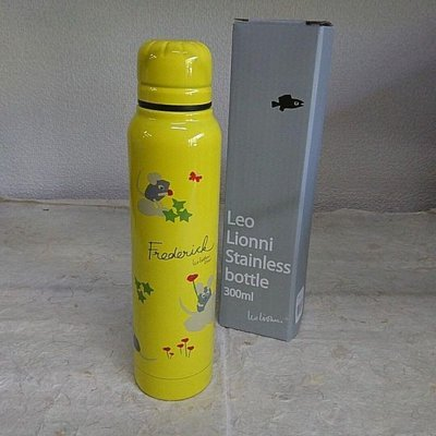 沛吉兔日貨館。日本直送 紅花鼠 田鼠阿佛 LEO LIONNI'S FRIENDS 不鏽鋼 保溫瓶 300ml/現貨