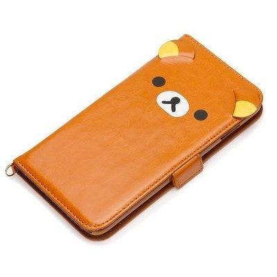 尼德斯Nydus~* 日本正版 拉拉熊 懶懶熊 翻頁皮套 手機殼 卡夾式 5.5吋 iPhone6+ plus